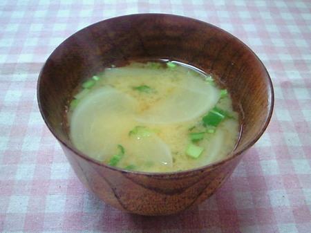 ピーチかぶのお味噌汁